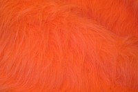 Longhaired fake fur in fresh orange