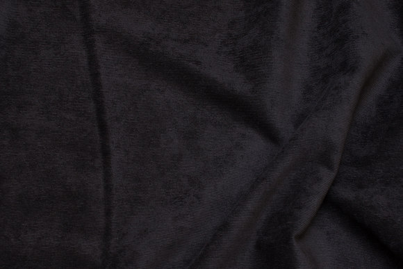 Narrow-rifled, black polyester pant-corduroy