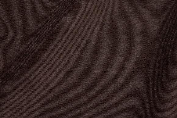 Narrow-rifled dark-brown polyester-corduroy