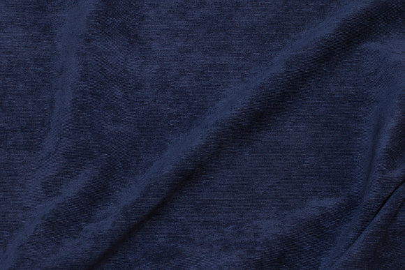 Narrow-rifled polyester pant-corduroy in navy blue
