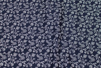 Navy patchwork-cotton with small light flowers