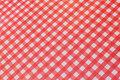 Oilcloth in red-white kitchen checks