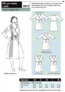 Onion 2014. Wrap-around knitted dress.