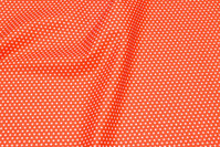 Orange, firm cotton with white mini stars
