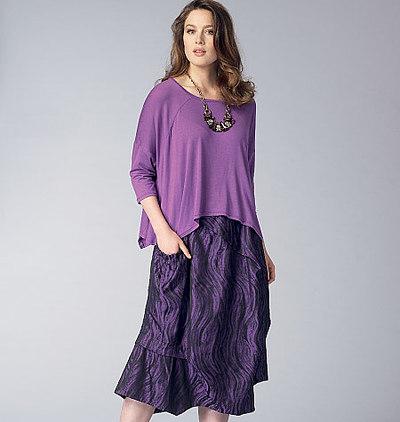 Top and Skirt, Marcy Tilton