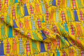 Yellow patchwork-cotton with fun cats