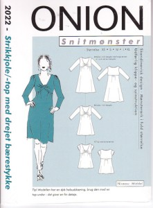 Onion 2022. Knit dress and top with twisted bust.
