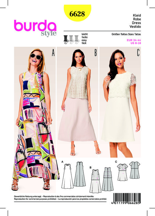 burda mønster kjole
