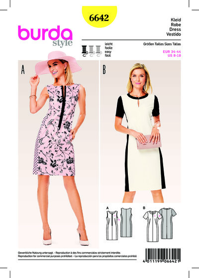 Dress, Sheath Dress with Panel Seams