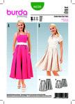Skirt, bell shaped fullness, inverted pleats