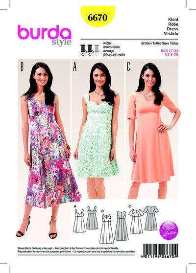 Dress, Strap Dress, Panel Seams, Half-sizes (Short Sizes)