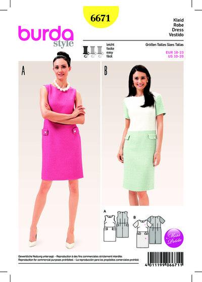 Dress, Shift, Half-sizes (Short Sizes)