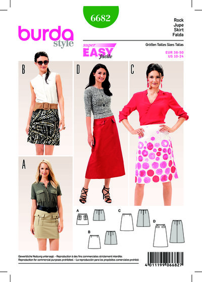 Flared Skirt, Easy to Sew
