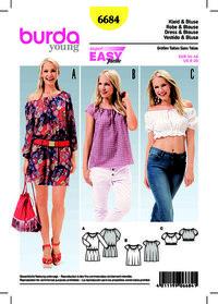 Burda pattern: Dress, Blouse, Cropped Blouse, Elastic Casing