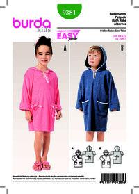 Burda pattern: Pullover Bathrobe, Hood