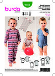 Burda 9384. Baby Bodysuit, Rompers, Fastened Between the Legs.