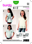Blouse with Short Sleeves, Button Fastening