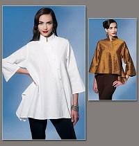 Vogue 1274. Kimonolike shirts.