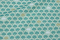 Deko-fabric in dusty-green with small leaves
