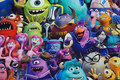 Cotton-canvas with colorful monsters
