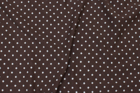 Brown cotton-jersey with small white stars