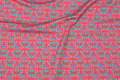 Coral-color cotton-jersey with mint leaves