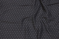 Charcoal double-woven cotton-crepe with small light grey crowns