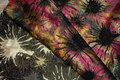 Beautiful lurex-brocade in pink, black and golden