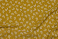Brass-yellow blouse-micropolyester with white feather