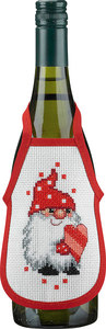 Wine bottle apron with an elf. 4 pcs.