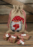 Christmas bag with elf with heart