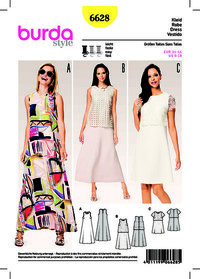 Summer Dress, Dress with Lace Over Top, A-Line. Burda 6628.
