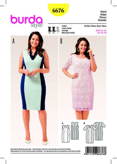 Jersey Dress, Lace Dress, Panel Seams