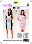 Burda 6676. Jersey Dress, Lace Dress, Panel Seams.