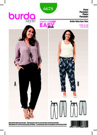 Trousers/Pants with Elastic Waist, Pockets. Burda 6678.