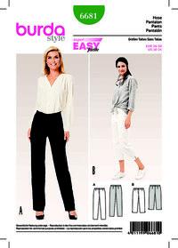 Trousers/Pants, 3/4 Trousers/Pants, Narrow Legs. Burda 6681.