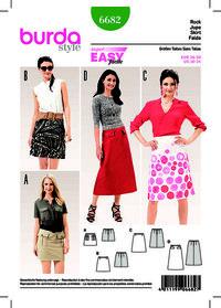 Flared Skirt, Easy to Sew. Burda 6682.
