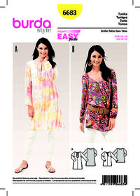 Tunic Top. Burda 6683.