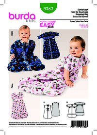 Baby Sleeping Bag. Burda 9382.