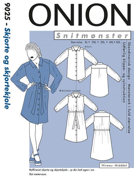 Plus-sized shirt and shirt-dress