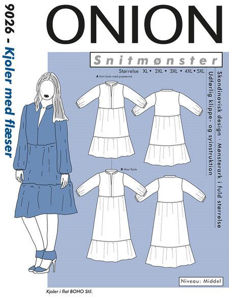 Plus-sizes dress with flounces