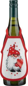 Wine bottle apron with an elf. 4 pcs.. Permin 4239-78.