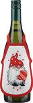Permin 4239-78. Wine bottle apron with an elf. 4 pcs..