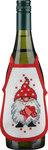 Wine bottle apron with an elf. 4 pcs.