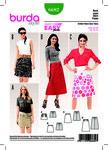 Burda 6682. Flared Skirt, Easy to Sew.
