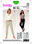 Burda 6689. Pants/Trousers, Shaped Waistband, Pressed Creases.