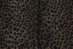 Dirt-brown bengalin with black print