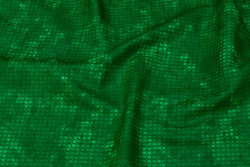 Firm, flamed grass-green cotton with small pattern
