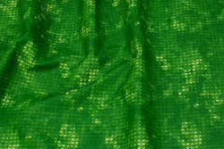 Firm, flamed light green cotton with small pattern