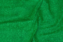 Firm, grass green cotton with speckles